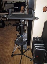 Basement:  Video stand, 5 lids