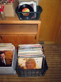 Basement:  LP's & 45's