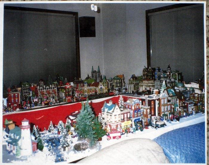 Basement:  Dept 56 Village ( Set up picture) We have approximate 200