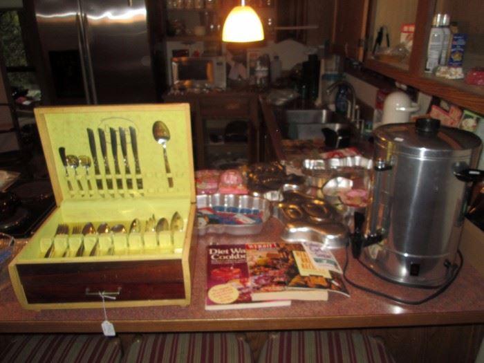 Kitchen: Silverware, Coffee Maker