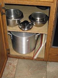 Kitchen:  pots, Pans