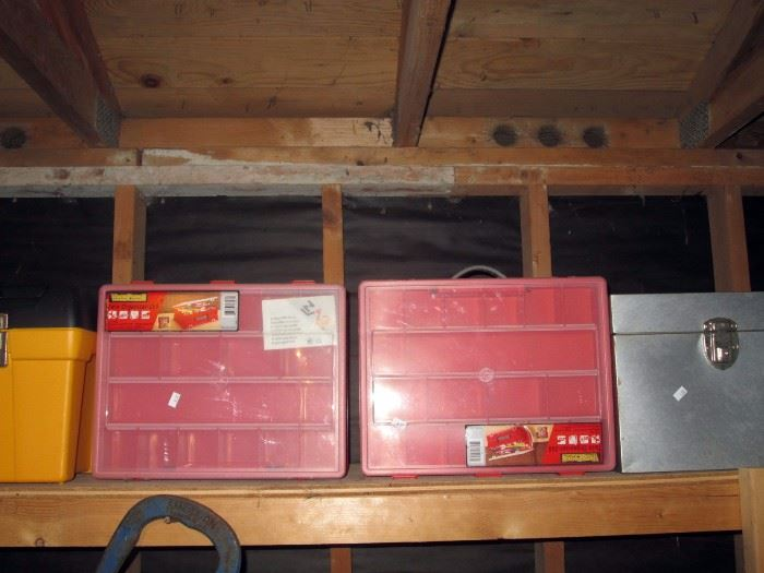 Garage:  Parts & nuts, bolts boxes