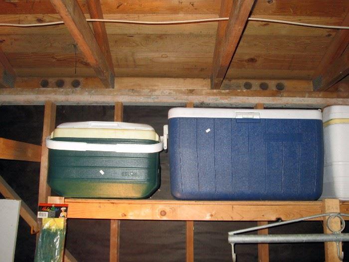 Garage:  Coolers