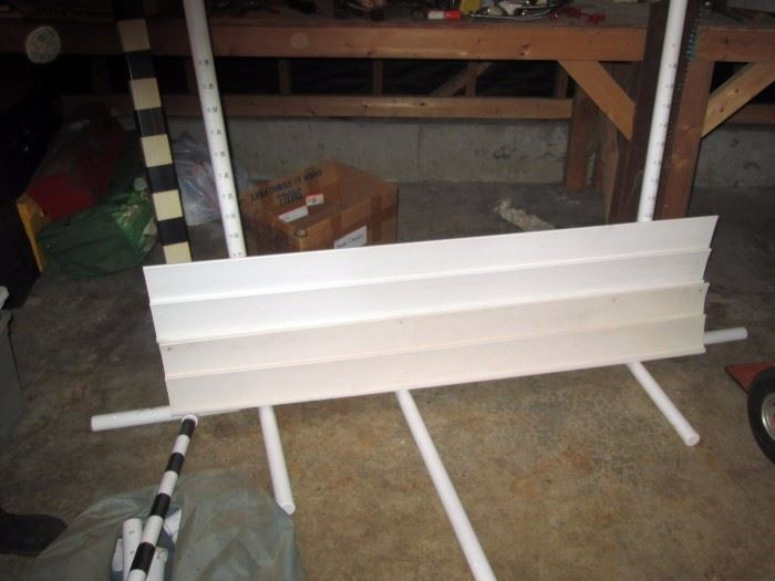 Garage:  Practijumps: Vinyl Conditioning Jumps, PVC Agility Broad Jumps, Bar Jump w/Carrying case