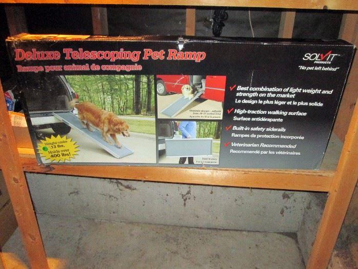 Garage:  New in the Box--Deluxe Telescoping  Pet Ramp