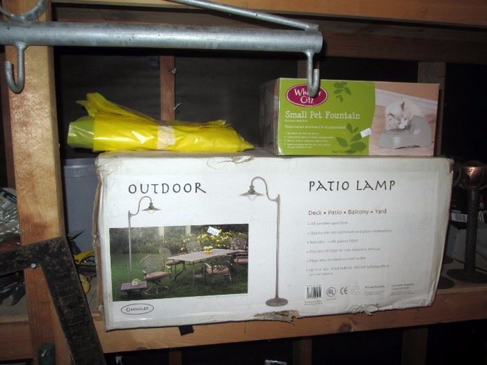 Garage:  New in the Box Out Door Patio Lamp