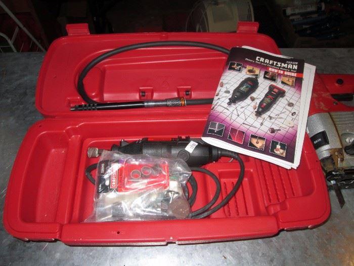 Garage:  Craftsman Dremel w/case