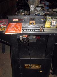 Garage:  Craftsman Rotor w/Table