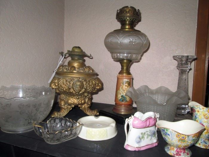 Dining Room:  Oil Lamps