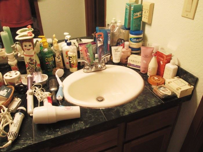 Upstairs Bedroom Left:  Bathroom Stuff
