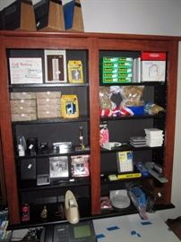 Upstairs Bedroom Right: Staples, Scotch tape, Paper clips, Rubber Bands, Staplers, etc