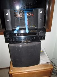 Upstairs Bedroom Left: Yamaha RX--V620 Receiver w/Remote, Boston Acoustics Micro 90X, 90c, Subwoofer