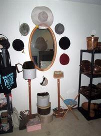 Upstairs Bedroom Left: Hats, Mirror
