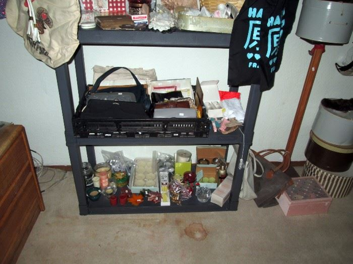 Upstairs Bedroom Left: Purses, Candles