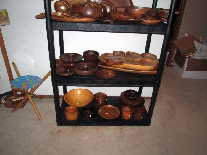 Upstairs Bedroom Left: Hawaiian Bowls, etc.