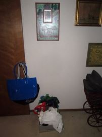 UpStairs Center Bedroom:  Bags, Pictures,
