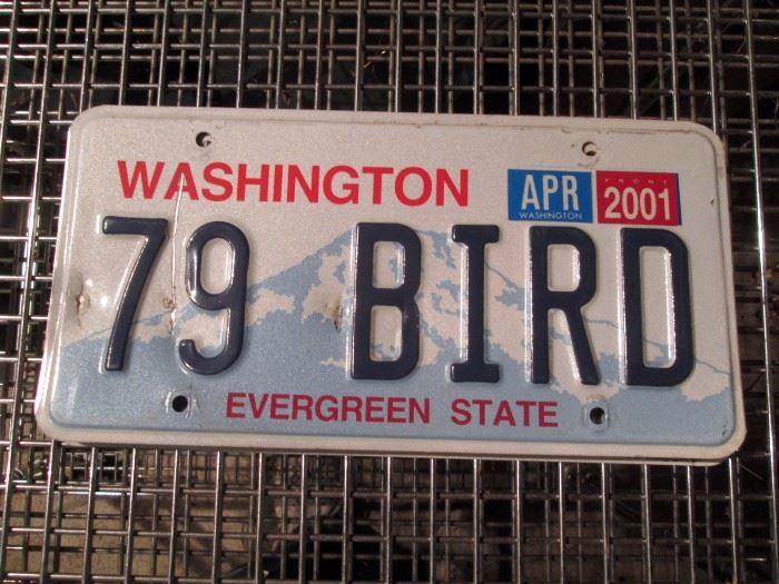 "Garage:  Washington License Plates ""79 Bird"""
