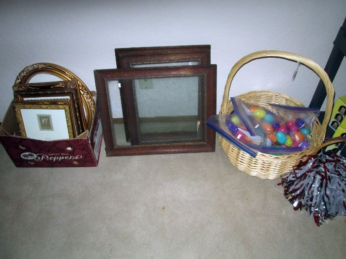 UpStairs Center Bedroom:  Picture Frames, Plastic Easter Eggs