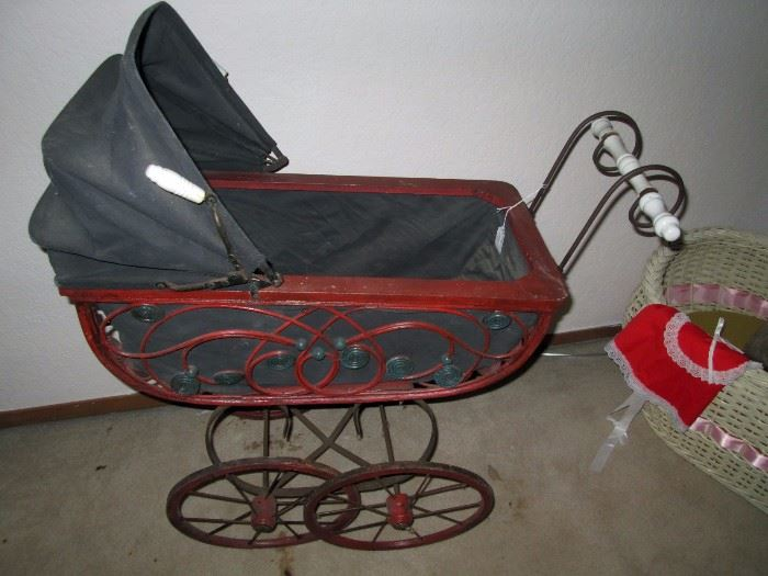 UpStairs Center Bedroom:  Baby Buggy (Close Up)