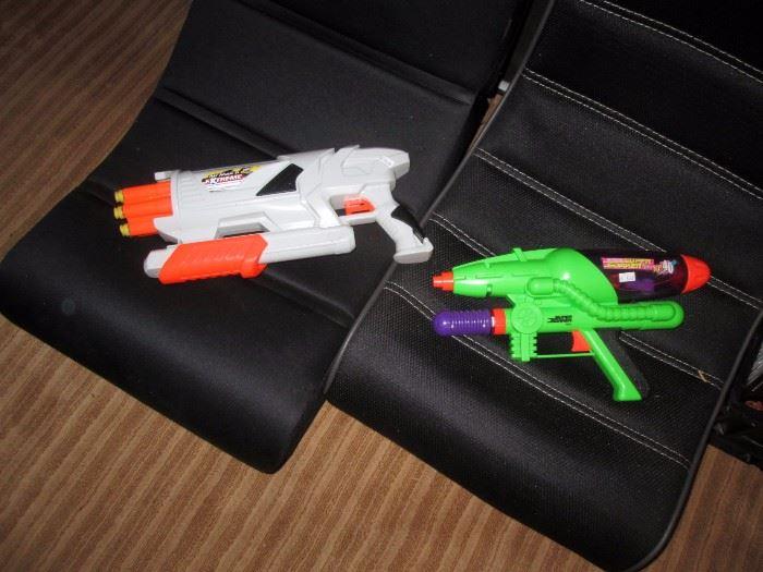 Basement:  Squirt Guns