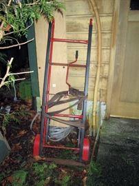 OutSide:  Heavy Duty Appliance Hand cart