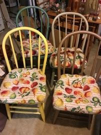 "-Each chair measures 36"" tall, 20 1/2"" tall from floor to seat, 16"" wide, and 17 1/2"" deep"