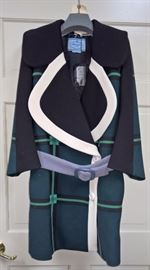 6  - Prada   Navy,Green,Black with Lavendar Belt   Size 38