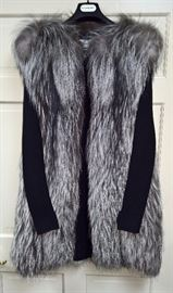 7  - YSL Fur Sweater Vest with Long Sleeve    Size 38