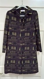 16 -  Prada  Green , Black and Brown Checked Coat    Size 40