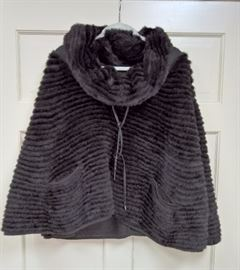 CL F10 -  Grinvest   Mink Cape with Cowl Neck
