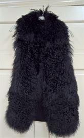 CL F7 -  Mackage   Mongolian Sheep Black Knit Vest    Size S/P
