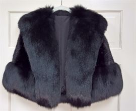 CL F12  - Dyed Mink and Fox Short Wrap