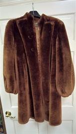 GA -  Vintage Dyed Mouton Fur Coat