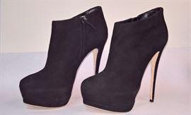 24 - Giuseppe Zanotti Black Suede Booties  Never Worn  Size 37.5