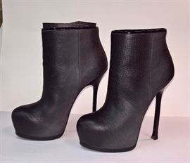 77 - YSL Tribtoo  Black Boots   Worn Once      Size 37.5