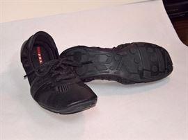 92  - Prada Gabardine & Saffiano Black  Never Worn  Size 37.5