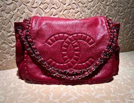 GA  Chanel Red Napa Bag with Flap