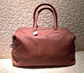 CL 6 - Yves Saint Laurent Brown Pebbled Leather Easy Y Zip Tote Bag    NEW