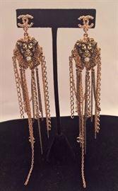 Mac 30  - Chanel    Lyon Multi-Chain  Lion Head Long Earrings