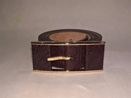 CL 24 - Gucci Chocolate Thin Leather Belt  Size 34