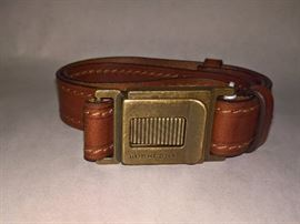 GA  -  Burberry Brown Leather Belt   Size  32