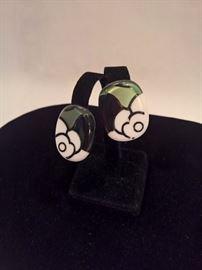 E 552 - Valentino Italian ca. 1970  Clip  Earrings