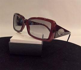 GA  - Tiffany Sterling Silver Logo Sunglasses