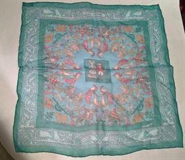 "GA  - Hermes Silk Pochette  ""Early American""     16' Square"