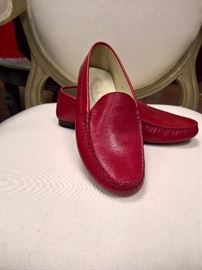 RB  - Tod's Red Leather Loafers   Size 6   Never Worn