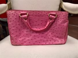 RB  - Celine   Pink Ostrich Leather Boogie Bag