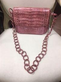 RB  - Nancy Gonzalez   Chain Flap Shoulder Bag Crocodile Medium
