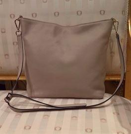 3V  - Diane vonFurstenberg  - Taupe Iggy Leather Shoulder Bag