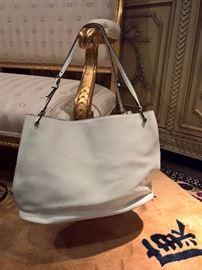 3V  - Tod's  White Leather Bag
