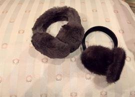 3V  - Brown Fur Ear Muffs with Fur Band                                                   3V  - Brown Fur Ear Muffs